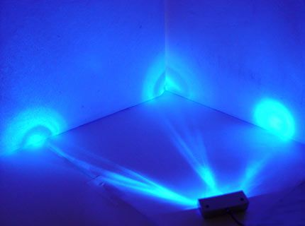 BLUE 3 LED NEON MOTORCYCLE/CAR/BOAT/HOME POD LIGHTS ULTRA BRIGHT