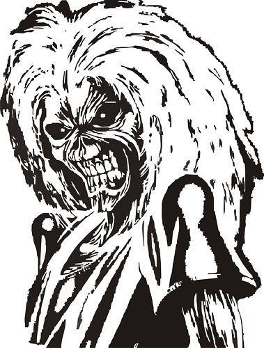 Iron Maiden Eddie Vinyl Decal,Sticker,Car Graphic