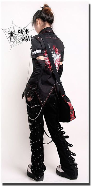VISUAL KEI PUNK rave gothic Japan Kera Pants Trousers