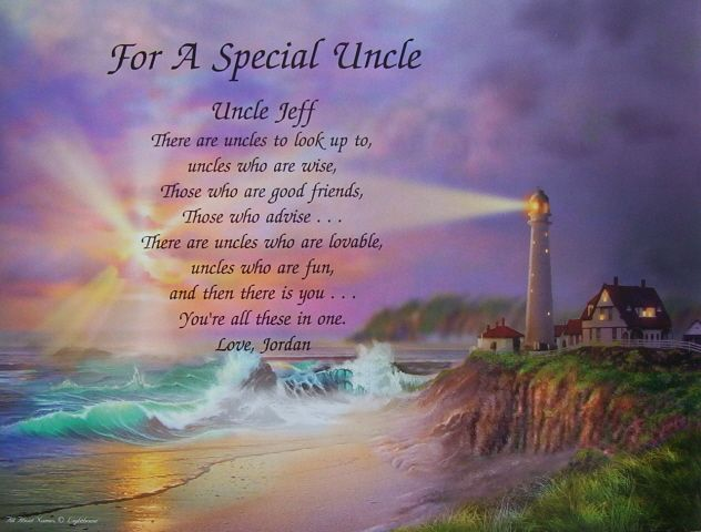 FOR A SPECIAL UNCLE PERSONALIZED POEM BIRTHDAY GIFT