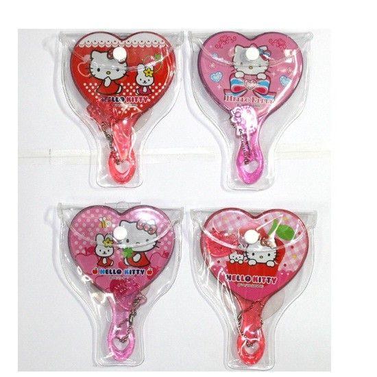 Sanrio Hello kitty Portable Heart Mirror W Small Comb