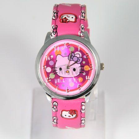 Colorful Hello kitty Quartz Wrist Watch Children Party Gift watches