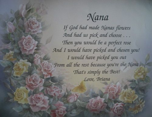 NANA PERSONALIZED POEM BIRTHDAY OR CHRISTMAS GIFT IDEA